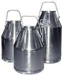 80# SS Milking Bucket w/ Short Handle