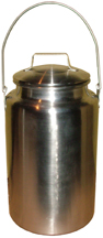 Aluminum Milk Carrying Can with Lid, 4 quart