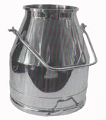 35# SS Milking Bucket w/ Short Handle