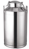 Milk Can, Stainless Steel, 10 gallon with Clamp on Cover