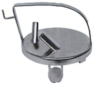 """Stainless Trap Lid with Checkball and 5/8"""" fittings"""