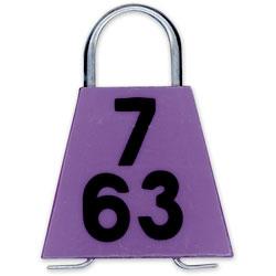 Bock's Dewlap Tag, Purple