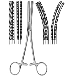"Fergusson Angiotribe Forceps, Curved: 6-1/2"" German"