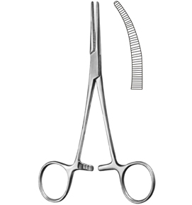 Crile Curved Hemostatic Forceps: 5-1/2""