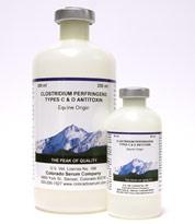 CLOSTRIDIUM PERFRINGENS  Type C&D Antitoxin, 250 ml