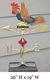 Fighting Rooster Weather Vane