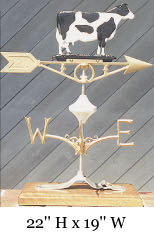 Holstein Cow Weather Vane
