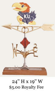 Kansas Jayhawk Weather Vane